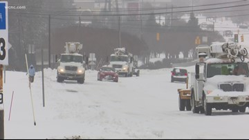 Hickory gets more than a foot of snow