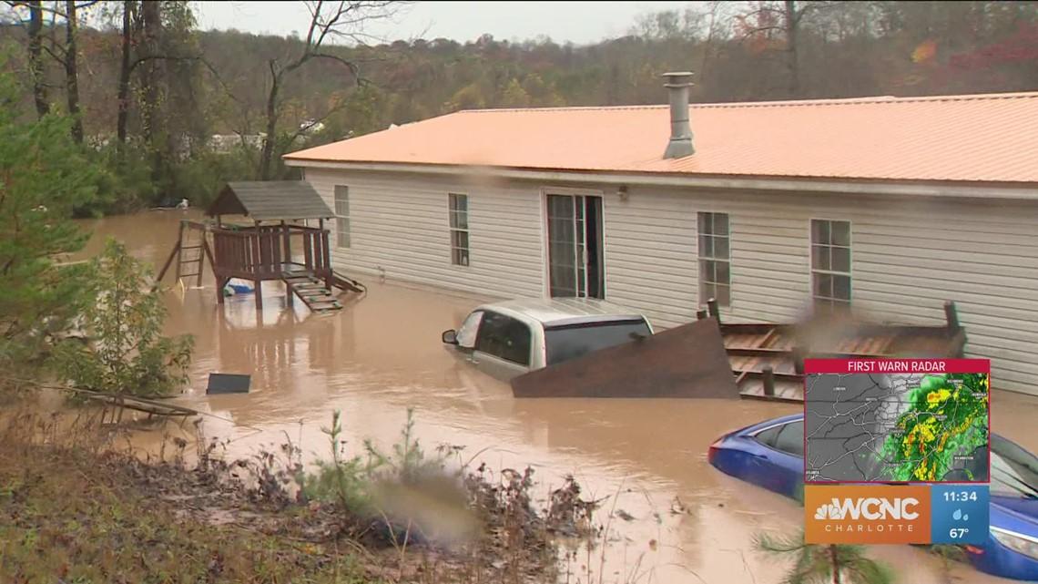Dozens rescued from Hiddenite campground flooding