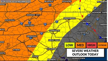 Panovich: Severe thunderstorms possible in Charlotte area Monday evening