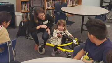 Charlotte 6th graders use 3D printing to change 2-year-old's life