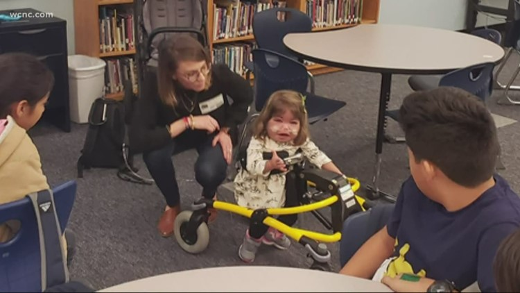 Middle schoolers help girl with genetic disorder