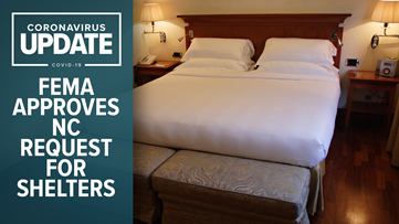 FEMA approves North Carolina request for coronavirus shelters