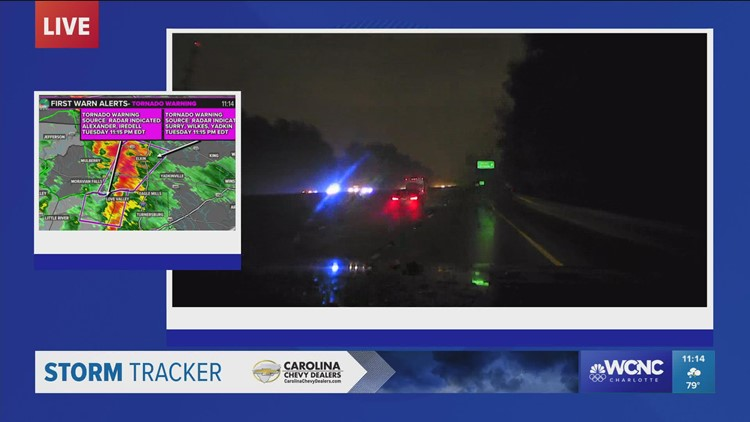 Chevy Storm Tracker: Drivers slowing down during heavy rain