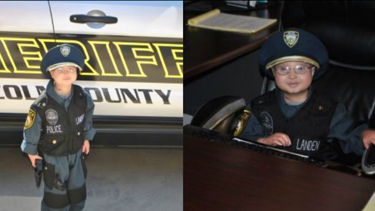 Lincoln County boy with rare form of dwarfism 'promoted' to honorary detective