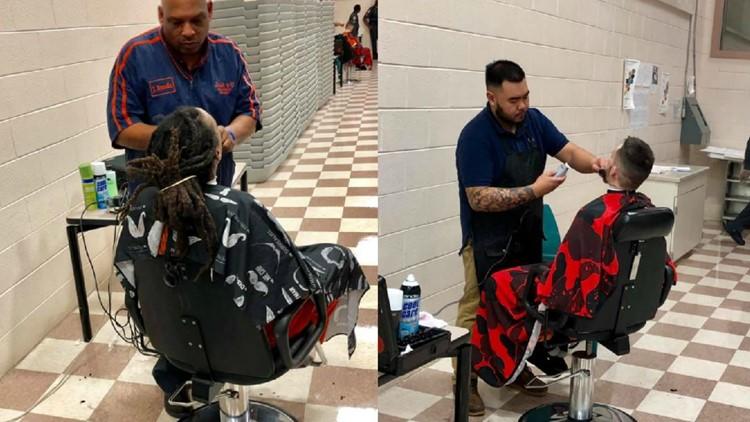 Barbers give Charlotte inmates free haircuts before career fair