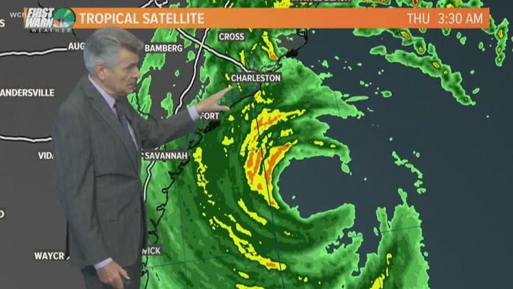 Hurricane Dorian 5 a.m. Thursday update: Heavy rain pounding Carolina coast