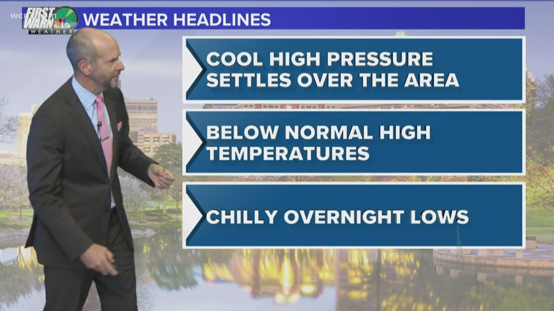 FORECAST: Cooler with lower humidity Wednesday