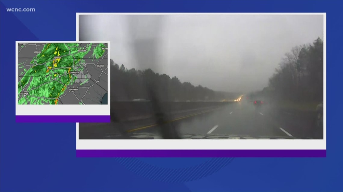 Line of storms heading to Charlotte area