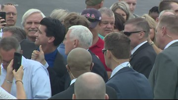 VP Pence attends private RNC kickoff in Charlotte