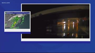 Heavy rain impacts roads in Charlotte area