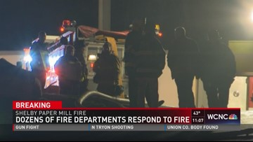 Dozens of fire dept respond to fire