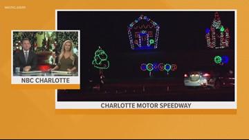 Charlotte Motor Speedway transforms into a winter wonderland