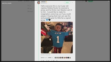 HEARTWARMING: Cam Newton sends autographed jersey to 6-year-old superfan