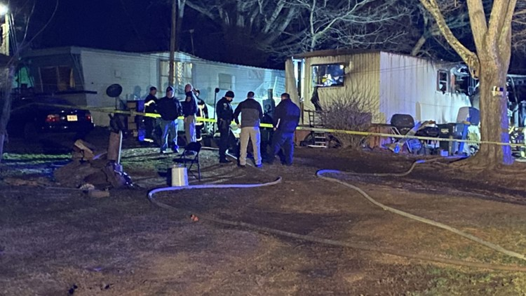 Two children have died after a mobile home fire in Hickory