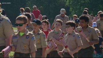 Charlotte-area Boy Scouts take part in remembrance ceremony