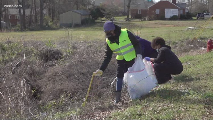 Volunteers with Keep Gastonia Beautiful initiative  picked up litter as part of Great American Cleanup