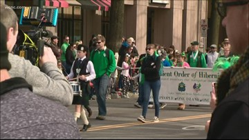 St. Patrick's Day parade marches through uptown