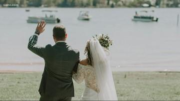 Huntersville newlyweds celebrated their wedding on Zoom
