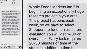 Whole Foods scam offers big bucks for little work