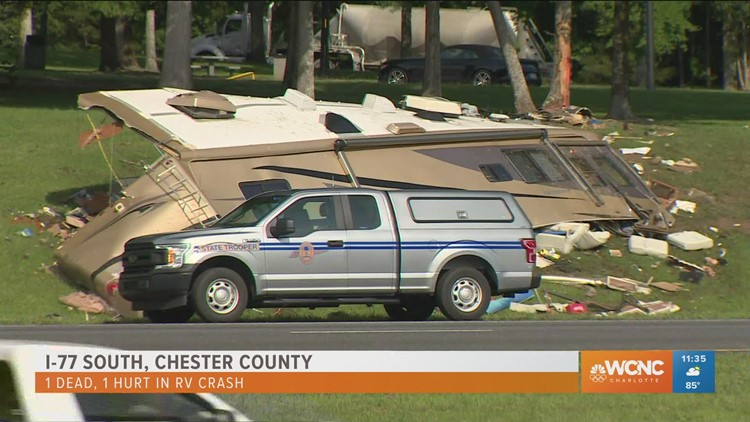 1 killed in RV crash on I-77 in Chester County