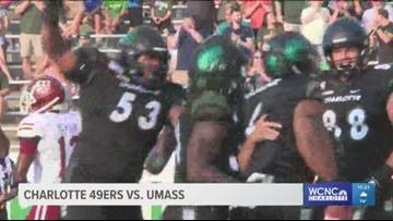 49ers score historic win over UMass