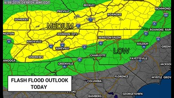 Heavy downpours likely, flash flooding possible Tuesday