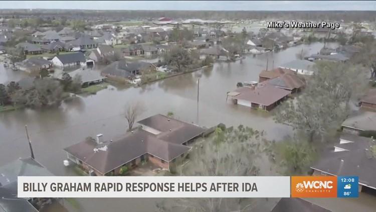 Billy Graham Rapid Response helping after Ida