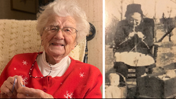 104-year-old Maine woman, living on her own, has been knitting for over a century