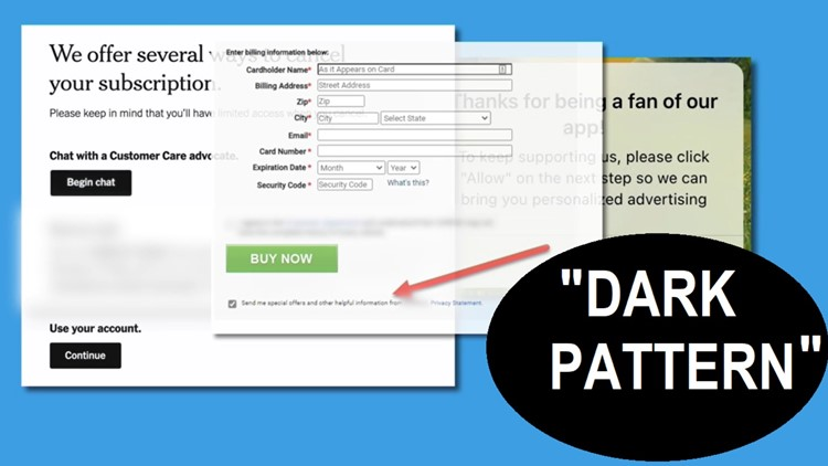 Chances are, you've been a victim of a 'Dark Pattern Practice.' What it is & how to report it