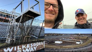 Dale Earnhardt Jr. helps clean up abandoned North Wilkesboro Speedway