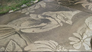 Good, clean fun: North Carolina woman creates art with power washer