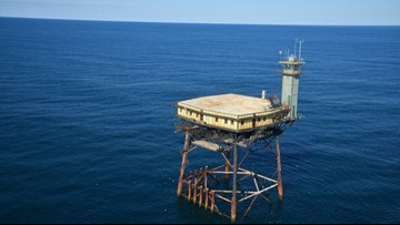 The Story Behind The 'Frying Pan Tower' Off North Carolina's Coast