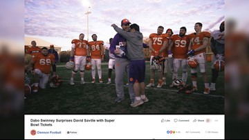 Clemson's Dabo Swinney sends equipment manager with Down syndrome to the Super Bowl