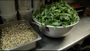 Where did the tradition of eating black-eyed peas and collards on New Year's Day start?