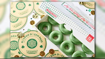 If you buy these green doughnuts, you could win free Krispy Kreme for a year