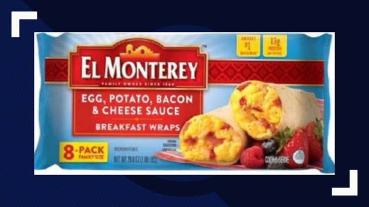 El Monterey frozen wraps recalled because they could contain rocks