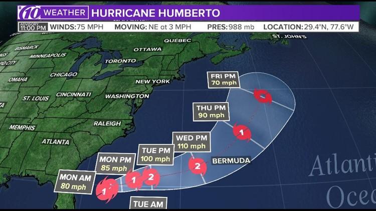 Hurricane Humberto 9-15-19 11p