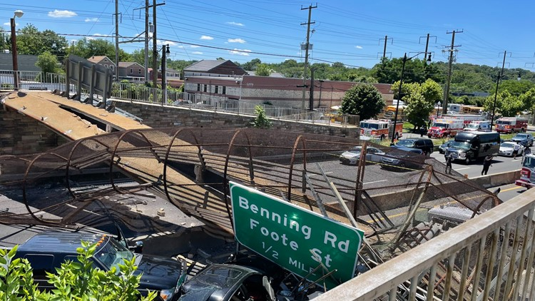 Collapsed pedestrian bridge given 'poor condition' rating at most recent inspection, officials say