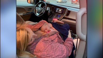Virginia Beach mom gives birth on side of I-64