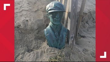 Orville Wright bust found on Kill Devil Hills beach; investigation continues