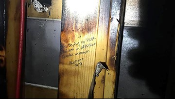 Massive fire at Louisiana home stops at scripture verses written on studs
