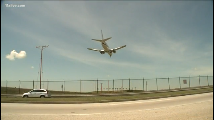 Flight over Hartsfield-Jackson International Airport