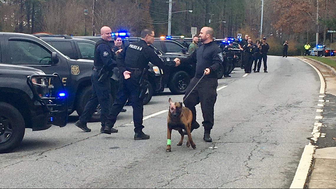 K9 shot in face released from hospital