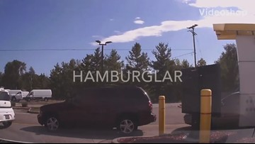 Drive-thru 'hamburglar' orders water, then steals someone else's food
