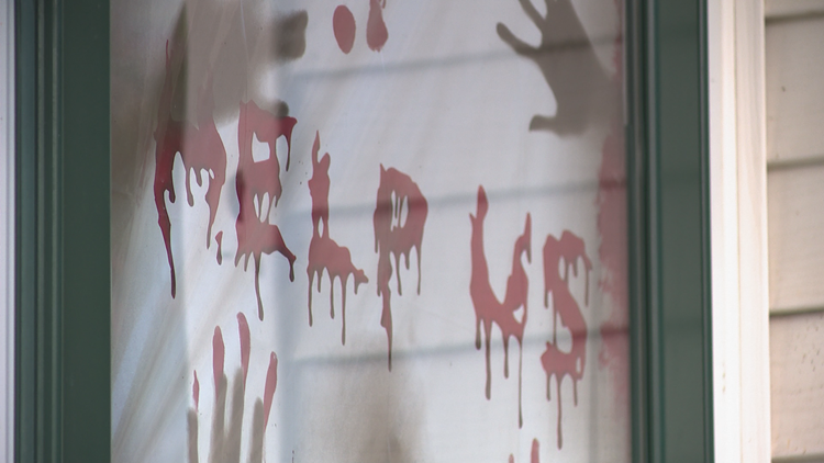 'Disturbing' Halloween display at home where teen violently killed his mother, sisters